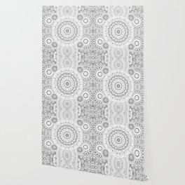 MOONCHILD MANDALA BLACK AND WHITE Wallpaper