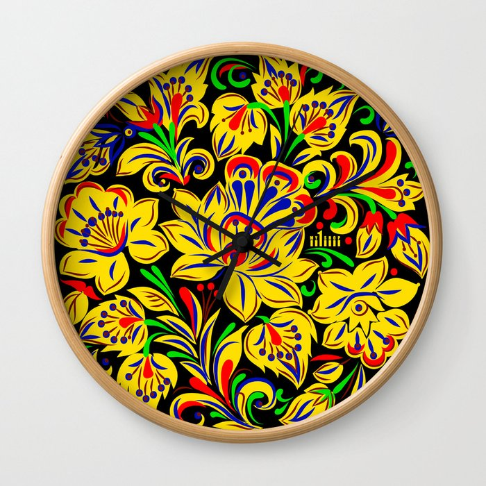 The Floral Motif Wall Clock