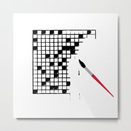 Crossword Metal Print