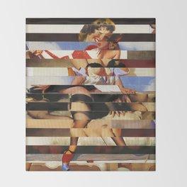 Glitch Pin-Up Redux: Daisy Throw Blanket