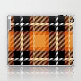 Orange + Black Plaid Laptop & iPad Skin