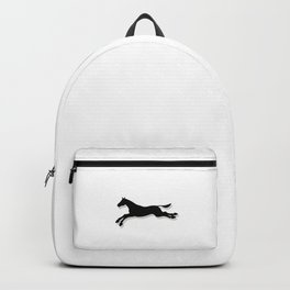 Tritty Trotter Black and White Backpack