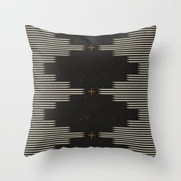 Southwestern Minimalist Black & White Throw Pillow