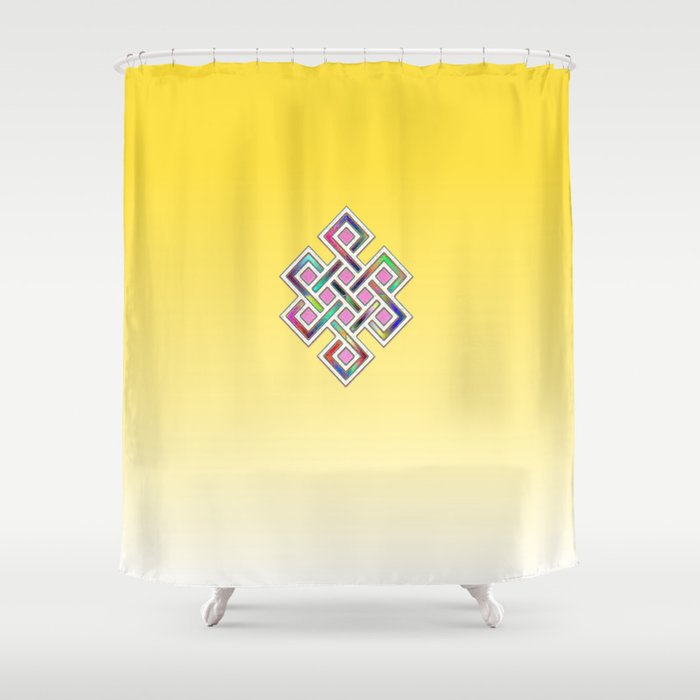 Limitless Infinity 2 (yellow) Shower Curtain