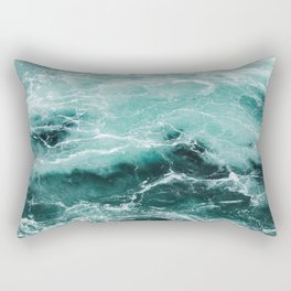 Water Photography | Sea | Ocean | Pattern | Abstract | Digital | Turquoise Rectangular Pillow
