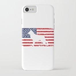 German Shepherd USA Flag Sheepdog Patriotic design Gift iPhone Case
