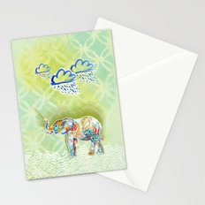 Elephant and Flowers Stationery Cards
