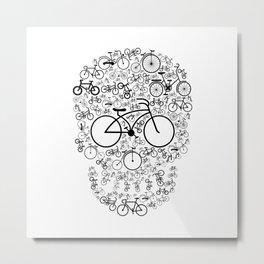 Bicycle Skull Metal Print