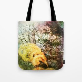 Yellow Plume Tote Bag