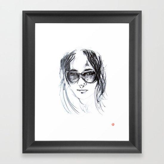 Sunglasses Girl Framed Art Print