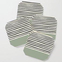 Sage Green x Stripes Coaster