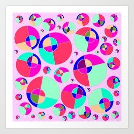 Bubble pink Art Print