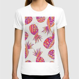 Geometric Pineapples Summer Print T-shirt