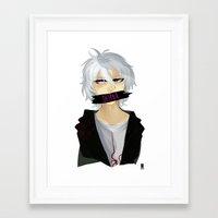 dangan ronpa Framed Art Prints featuring Nagito Komaeda -Super Dangan Ronpa 2- by Xizeta