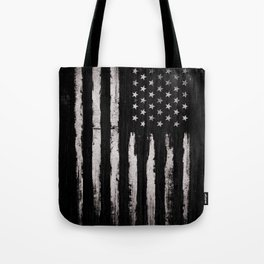 White Grunge American flag Tote Bag