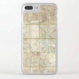 Map of Yellowstone National Park (1886) Clear iPhone Case