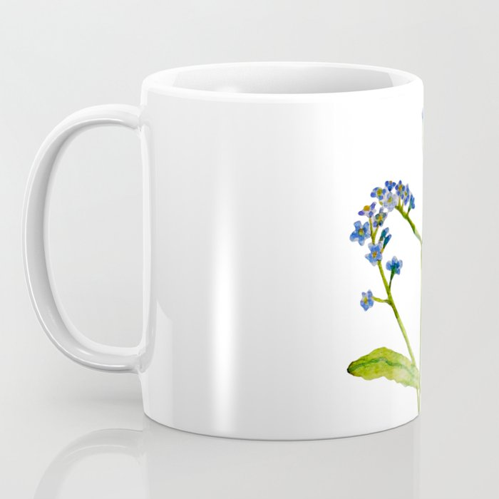 Forget-me-not flowers watercolor art Coffee Mug