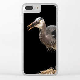Heron Eating the Mole Clear iPhone Case