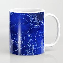 map blue Coffee Mug
