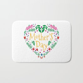 Happy Mothers Day Message Best Mom Grandma Gift Bath Mat