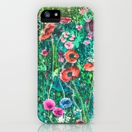 Poppies, Cornflowers and Spring Wildflowers at the Lagoon iPhone Case