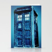 tardis Stationery Cards featuring TARDIS by Hands in the Sky
