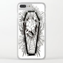 Graven Rose Clear iPhone Case