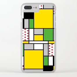 Mondrian – Bycicle Clear iPhone Case