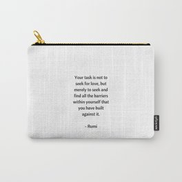Rumi Inspirational Quotes - on love Carry-All Pouch