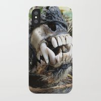 animal skull iPhone & iPod Cases featuring Animal Skull by CJ Thornburg