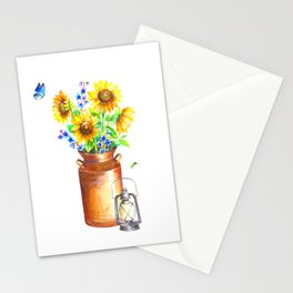 Country Sunflower Stationery Cards