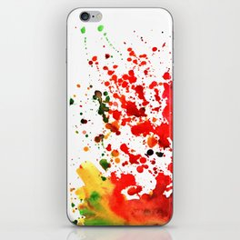 colorful splashes in watercolor iPhone Skin