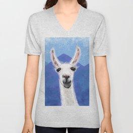 Llama Yama Smiling Unisex V-Neck