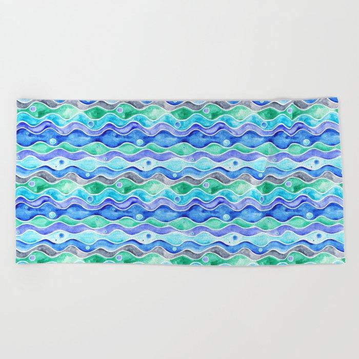 Ocean Pattern - Dolphin Beach Towel