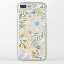 Faded Summer Blossoms Clear iPhone Case