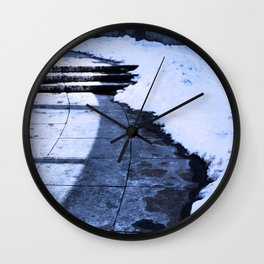 Grounding Snow Wall Clock