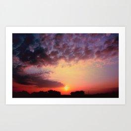 Coucher du Soleil Art Print