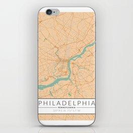 Philadelphia Map - Color iPhone Skin