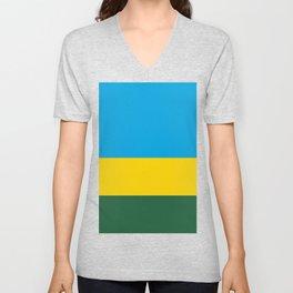 Rwanda Flag Unisex V-Neck