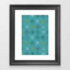 seedheads blue Framed Art Print