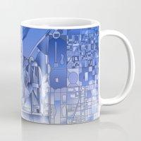 washington dc Mugs featuring washington dc city skyline by Bekim ART