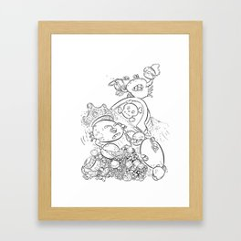 Buried Treasure - ink Framed Art Print