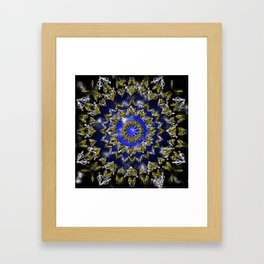 The Origin Gold and Silver With Plasma Framed Art Print