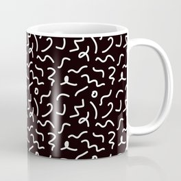 Postmodern Squiggles in Black + White Coffee Mug