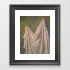 Drapery On a Green Wall Framed Art Print
