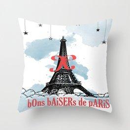 Bon baisers de paris Throw Pillow