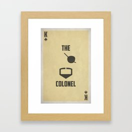 Stacked Deck Series: King of Spades Framed Art Print