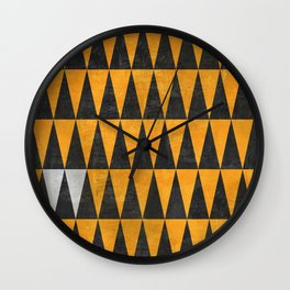 Triangles - White Wall Clock