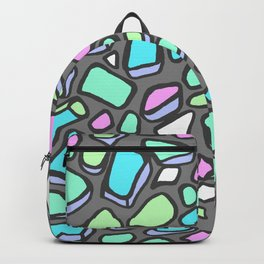 Sea Glass - Gray Background Backpack