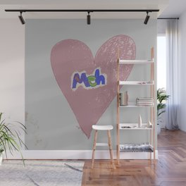 Valentine Sarcasm in grungy colors Wall Mural